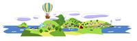 春のパノラマ風景 02463001368| 写真素材・ストックフォト・画像・イラスト素材|アマナイメージズ