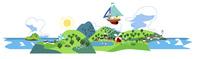 夏のパノラマ風景 02463001369| 写真素材・ストックフォト・画像・イラスト素材|アマナイメージズ