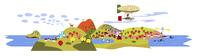 秋のパノラマ風景 02463001370| 写真素材・ストックフォト・画像・イラスト素材|アマナイメージズ
