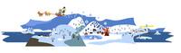冬のパノラマ風景 02463001371| 写真素材・ストックフォト・画像・イラスト素材|アマナイメージズ