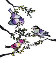 3匹の鳥 02463001374| 写真素材・ストックフォト・画像・イラスト素材|アマナイメージズ