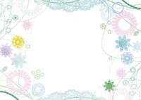植物とレースの囲み飾り 02463001386| 写真素材・ストックフォト・画像・イラスト素材|アマナイメージズ