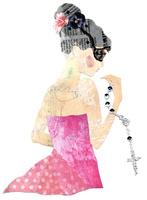 ネックレスと女の子 02463001387| 写真素材・ストックフォト・画像・イラスト素材|アマナイメージズ