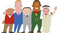 肩を組むいろいろな国の人たち 02463001505  写真素材・ストックフォト・画像・イラスト素材 アマナイメージズ