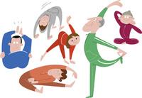 体操をする人たち