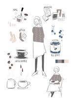 女の子と雑貨