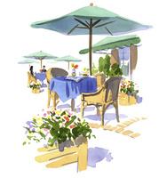 カフェの屋外スペース