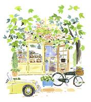植物に囲まれたパン屋 02463001616| 写真素材・ストックフォト・画像・イラスト素材|アマナイメージズ