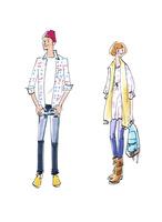 オシャレな服を着た男女 02463001627| 写真素材・ストックフォト・画像・イラスト素材|アマナイメージズ
