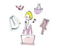 ネットショッピングをする女性 02463001629| 写真素材・ストックフォト・画像・イラスト素材|アマナイメージズ