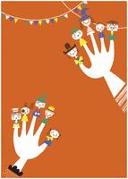 ハロウィンと指人形
