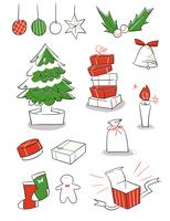 もみの木やプレゼントなどクリスマスグッズ