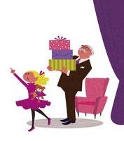 買い物をする孫とお祖父さん 02463001729| 写真素材・ストックフォト・画像・イラスト素材|アマナイメージズ