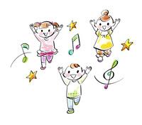 子供達のリトミックダンス