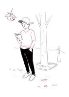 読書する男性