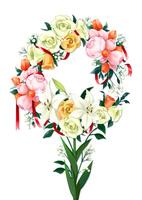 花のリース 02463001745| 写真素材・ストックフォト・画像・イラスト素材|アマナイメージズ