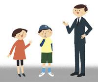 子供2人と男性 02463001753| 写真素材・ストックフォト・画像・イラスト素材|アマナイメージズ
