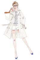 カバンを持ってポーズをとる女性 02463001754| 写真素材・ストックフォト・画像・イラスト素材|アマナイメージズ