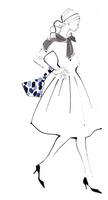 腰に手をあて歩く女性 02463001758| 写真素材・ストックフォト・画像・イラスト素材|アマナイメージズ