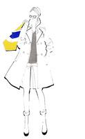 カラフルなカバンを肩に担ぐ女性 02463001763| 写真素材・ストックフォト・画像・イラスト素材|アマナイメージズ