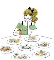 食事を楽しむ女性 02463001783| 写真素材・ストックフォト・画像・イラスト素材|アマナイメージズ