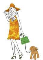 犬の散歩する女性 02463001789| 写真素材・ストックフォト・画像・イラスト素材|アマナイメージズ
