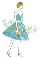 ドレスを着たショートカットの女性 02463001800| 写真素材・ストックフォト・画像・イラスト素材|アマナイメージズ