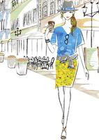 カフェに立ち寄った女性 02463001801| 写真素材・ストックフォト・画像・イラスト素材|アマナイメージズ