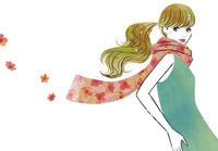 花柄のストールと女性 02463001806| 写真素材・ストックフォト・画像・イラスト素材|アマナイメージズ