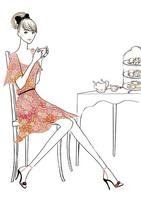 紅茶を楽しむ女性