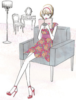 読書する女性 02463001814| 写真素材・ストックフォト・画像・イラスト素材|アマナイメージズ
