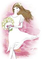 ブーケを持った花嫁 02463001825| 写真素材・ストックフォト・画像・イラスト素材|アマナイメージズ