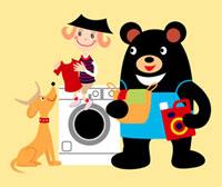 少年と熊と犬 02464000024| 写真素材・ストックフォト・画像・イラスト素材|アマナイメージズ