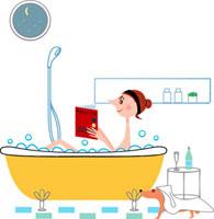 お風呂に入る女性 02464000034| 写真素材・ストックフォト・画像・イラスト素材|アマナイメージズ