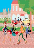 街と人々 02464000039| 写真素材・ストックフォト・画像・イラスト素材|アマナイメージズ