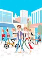 街と人々 02464000041| 写真素材・ストックフォト・画像・イラスト素材|アマナイメージズ
