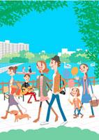 公園と人々