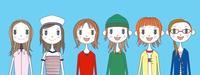 若い女性6人