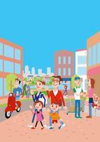 街と家族 02464000089| 写真素材・ストックフォト・画像・イラスト素材|アマナイメージズ