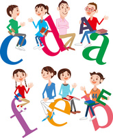 ディスカッション(対話)する大人と子供 02464000095| 写真素材・ストックフォト・画像・イラスト素材|アマナイメージズ