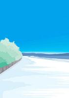 遠くの峰峯に続く朝焼けの海岸 02474000006| 写真素材・ストックフォト・画像・イラスト素材|アマナイメージズ