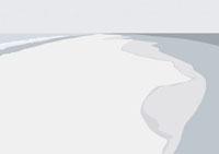 モノクロに描かれた海岸線