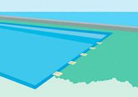 海の見えるプールサイド 02474000021| 写真素材・ストックフォト・画像・イラスト素材|アマナイメージズ