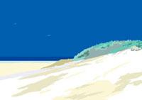 小高い丘のある海岸線
