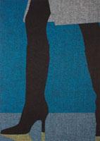 ハイヒールを履いた女性の足下