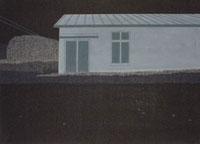 夜の道路沿いの廃墟 02474000043| 写真素材・ストックフォト・画像・イラスト素材|アマナイメージズ