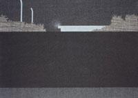 高い壁の向こうの建物と森 02474000045| 写真素材・ストックフォト・画像・イラスト素材|アマナイメージズ