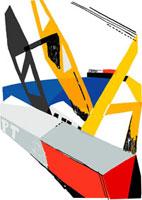 タグボートのクレーン