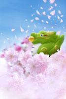 花見をしている辰 02478000140| 写真素材・ストックフォト・画像・イラスト素材|アマナイメージズ