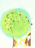 月と星の木